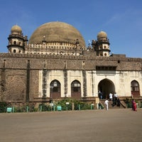 Photo taken at Gol Gumbaz by mihir k. on 10/30/2014