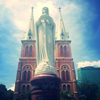 Photo taken at Saigon Notre-Dame Basilica by Olya L. on 2/26/2013
