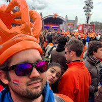 Photo taken at Museumplein by Gilberto L. on 4/30/2013
