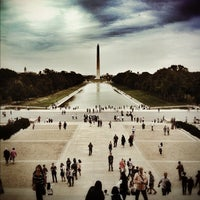 Photo taken at Lincoln Memorial Reflecting Pool by Jonathan R. on 9/28/2012