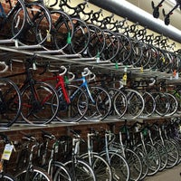 Photo taken at Helen's Cycles by Megan F. on 2/23/2015