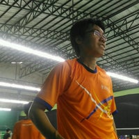 Photo taken at CC Badminton Court by Pookpiik C. on 9/16/2016