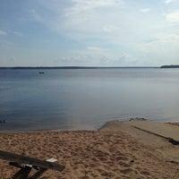 Photo taken at Пляж Прибой by Marat G. on 8/10/2014
