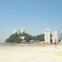 Photo taken at Praia do Gonzaguinha by Carlos A. on 9/30/2012