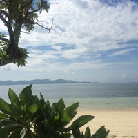 Photo taken at Anguib Beach by Janice L. on 8/30/2015