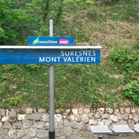 Photo taken at Gare SNCF de Suresnes — Mont Valérien by Lyly F. on 4/20/2014