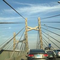 Photo taken at 6th October Bridge by Mahmoud O. on 1/12/2013