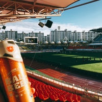 Photo taken at Tancheon Sports Complex Stadium by Youngjin M. on 9/17/2016