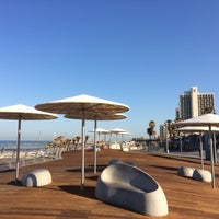 Photo taken at Tel Aviv Marina promenade by Globetrottergirls D. on 2/2/2017