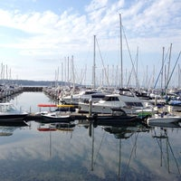 Photo taken at Elliott Bay Marina by Angela H. on 8/11/2013