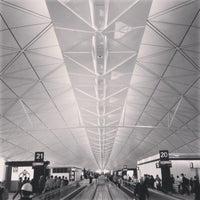 Photo taken at Hong Kong International Airport (HKG) by haseppi on 10/23/2013