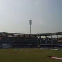 Photo taken at Wankhede Stadium by Kaushal P. on 11/24/2012
