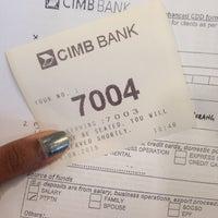 Photo taken at CIMB Bank by Sharvs on 8/26/2015