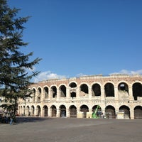 Photo taken at Arena di Verona by Tiraje E. on 3/15/2013