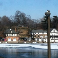 Photo taken at Boathouse Row by Jenn B. on 1/27/2013