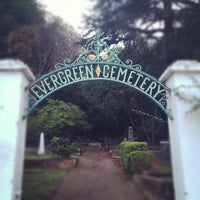 Photo taken at Evergreen Cemetery by Claudy S. on 12/9/2012