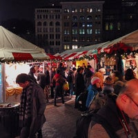 Photo taken at Union Square Holiday Market by Mike C. on 12/21/2013