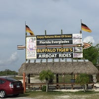 Photo taken at Buffalo Tiger's Airboat Rides by Arno A. on 3/18/2016