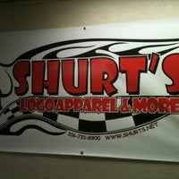 Photo taken at Shurt's Logo Apparel & More by Kim S. on 12/27/2012