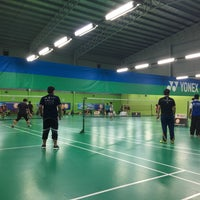 Photo taken at Champion Badminton Court by Mohd Q. on 3/31/2018