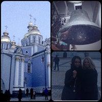 Photo taken at михайловская церковь by Olga on 1/7/2014