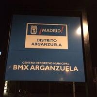 Photo taken at Centro Deportivo Municipal Circuito BMX by Abraham N. on 2/21/2014