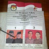 Photo taken at SMP Negeri 73 by Alfan Y. on 9/20/2012