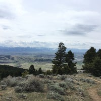 Photo taken at Sypes Canyon Trail Head by Zach N. on 5/5/2018