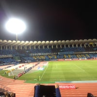 Photo taken at Todoroki Athletics Stadium by Uesama730 on 11/24/2012