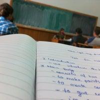 "Photo taken at Colegiul Național ""Matei Basarab"" by Marin R. on 10/3/2012"