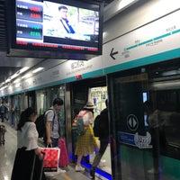 Photo taken at 地铁禄口机场站 Lukou Int'l Airport Station by Tatsushi I. on 5/3/2018