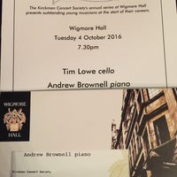 Photo taken at Wigmore Hall by Padre P. on 10/4/2016