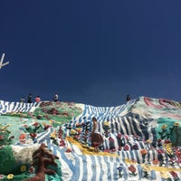 Photo taken at Salvation Mountain by Juan Carlos B. on 4/23/2016