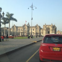Photo taken at Plaza Mayor de Lima by Marco M. on 9/22/2012