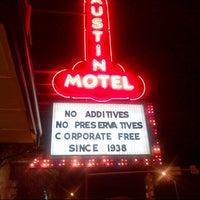Photo taken at Austin Motel by Christophe C. on 3/11/2013