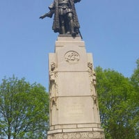 Photo taken at Christopher Columbus Monument by Carl Brioschi by Chris S. on 5/21/2016