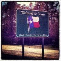 Photo taken at Oklahoma / Texas Border by Kimmie Kim N. on 3/16/2013