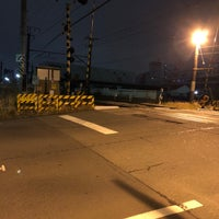 Photo taken at 千若町踏切 by route507 on 2/22/2018