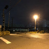 Photo taken at 千若町踏切 by route507 on 3/6/2018