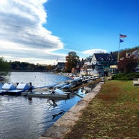 Photo taken at Boathouse Row by Jamison N. on 11/3/2014