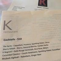 Photo prise au K Restaurant and Wine Bar par Cid S. le5/15/2017