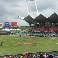 Photo taken at Estadio Hiram Bithorn by Altagracia R. on 3/9/2013