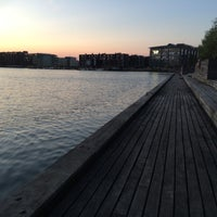 Photo taken at Sluseholmen Boardwalk by Louise H. on 5/11/2016