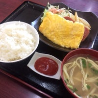 Photo taken at お食事処 大京 by higa K. on 3/11/2014