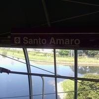 Photo taken at Estação Santo Amaro (Metrô) by Ricardo P. on 4/20/2013