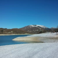 Photo taken at Lago di Fiastra by Andrea C. on 1/14/2017