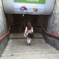Photo taken at Metro Sant'Agostino (M2) by Vincenzo D. on 5/18/2016