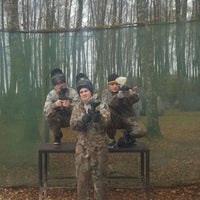 """Photo taken at Paintball park """"PIF PAF"""" by Kristians G. on 10/23/2016"""