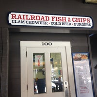 Photo taken at Railroad Fish & Chips by Sibely N. K. on 5/14/2014