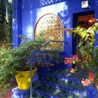 Photo taken at Jardin de Majorelle by Gabi on 11/23/2012